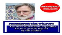 Professor Tim Wilson: America's international reputation has been gravely injured by this election
