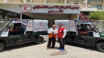 Kızılay'ın Filistin'e desteği sürüyor