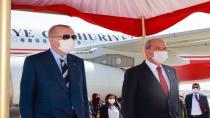 Cumhurbaşkanı Erdoğan'ın Kuzey Kıbrıs Meclisi'ndeki konuşmasına Yunanistan taraftarı 2 partiden protesto