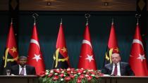 Cumhurbaşkanı Erdoğan, Angola Cumhurbaşkanı João Manuel Gonçalves Laurenço'yu kabul etti.