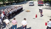 Ankara İtfaiyesi'nden ANFA personeline yangın tatbikatı eğitimi