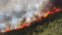 Alevler Gündoğmuş'ta Karaisa köyüne ulaştı