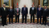 Cumhurbaşkanı Erdoğan SiRo heyetini kabul etti